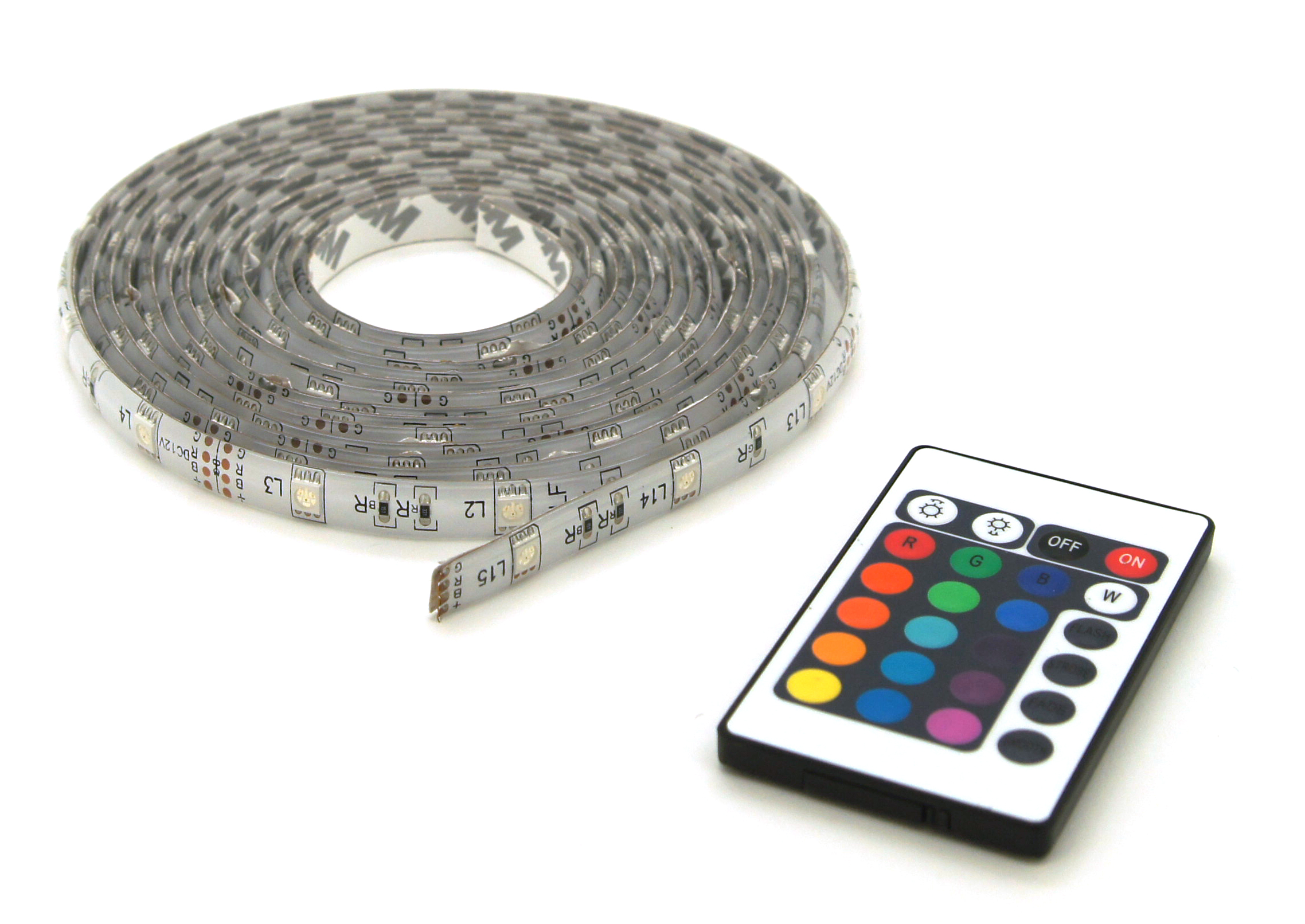 LED strip RGB 5M +afst. bed. IP44