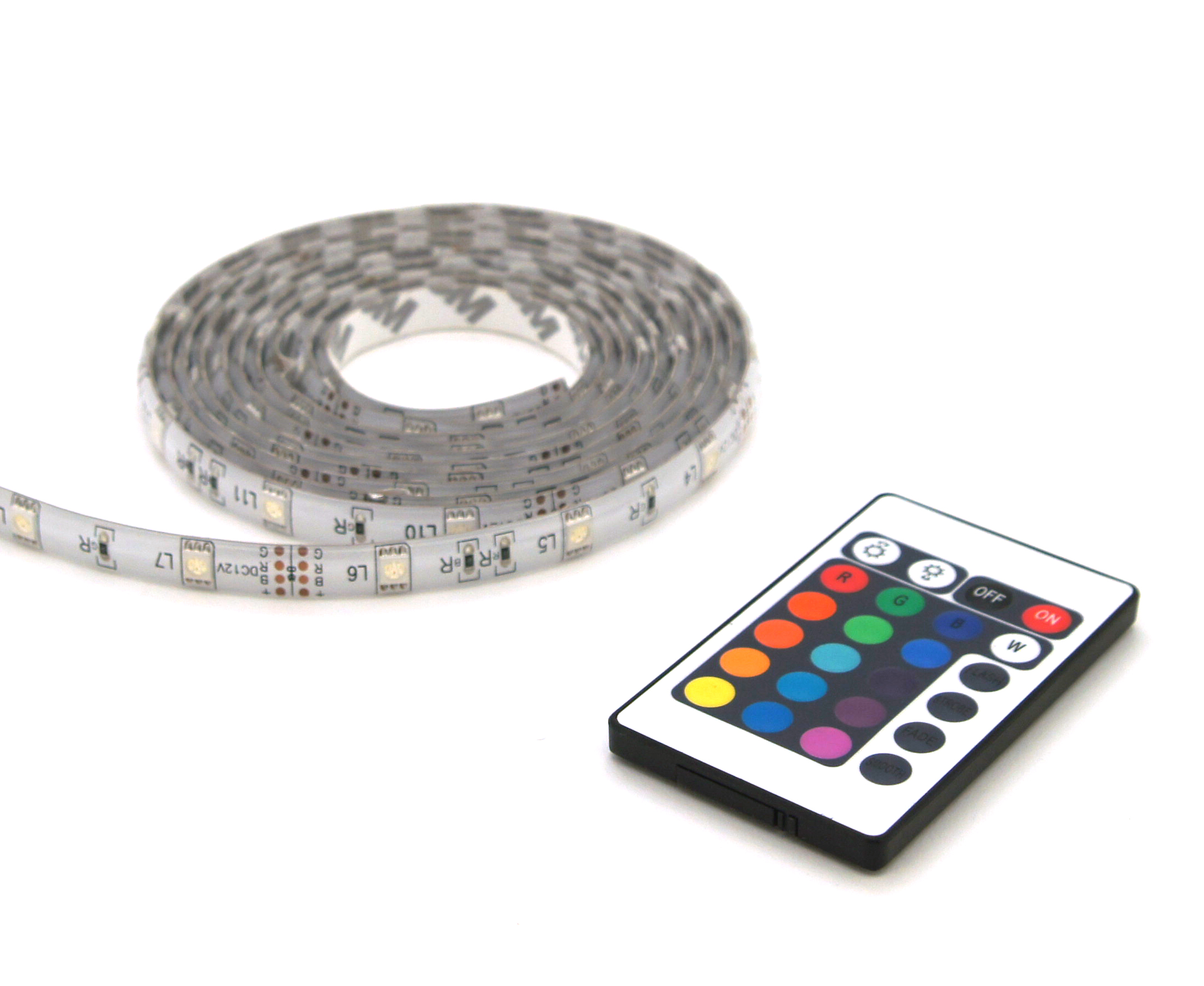 LED strip RGB 2M +afst. bed. IP44