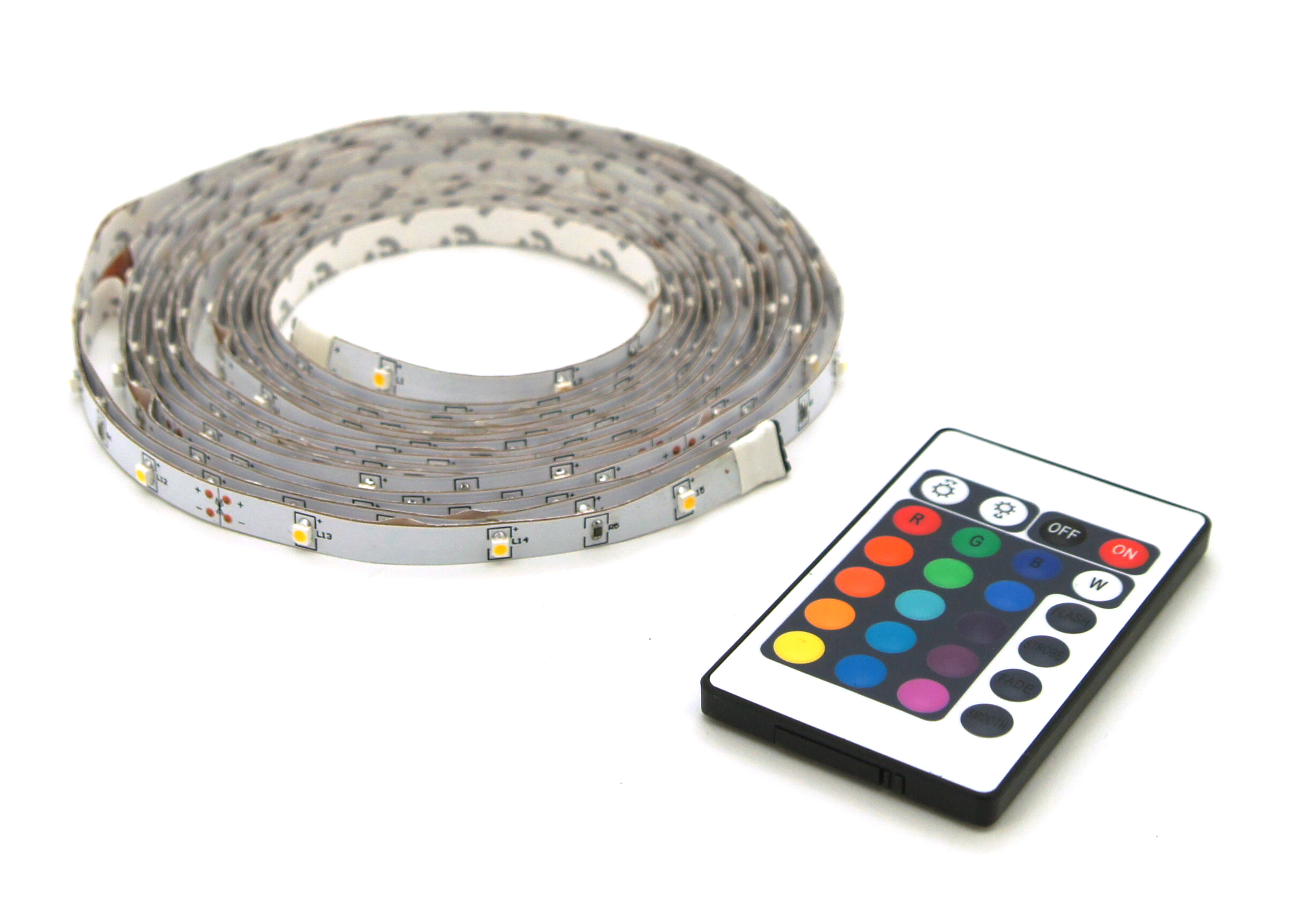 LED strip RGB 5M +afst. bed. IP20