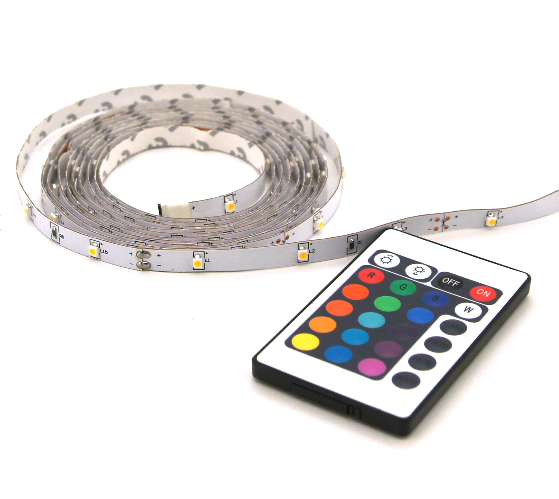 LED strip RGB 2M +afst. bed. IP20