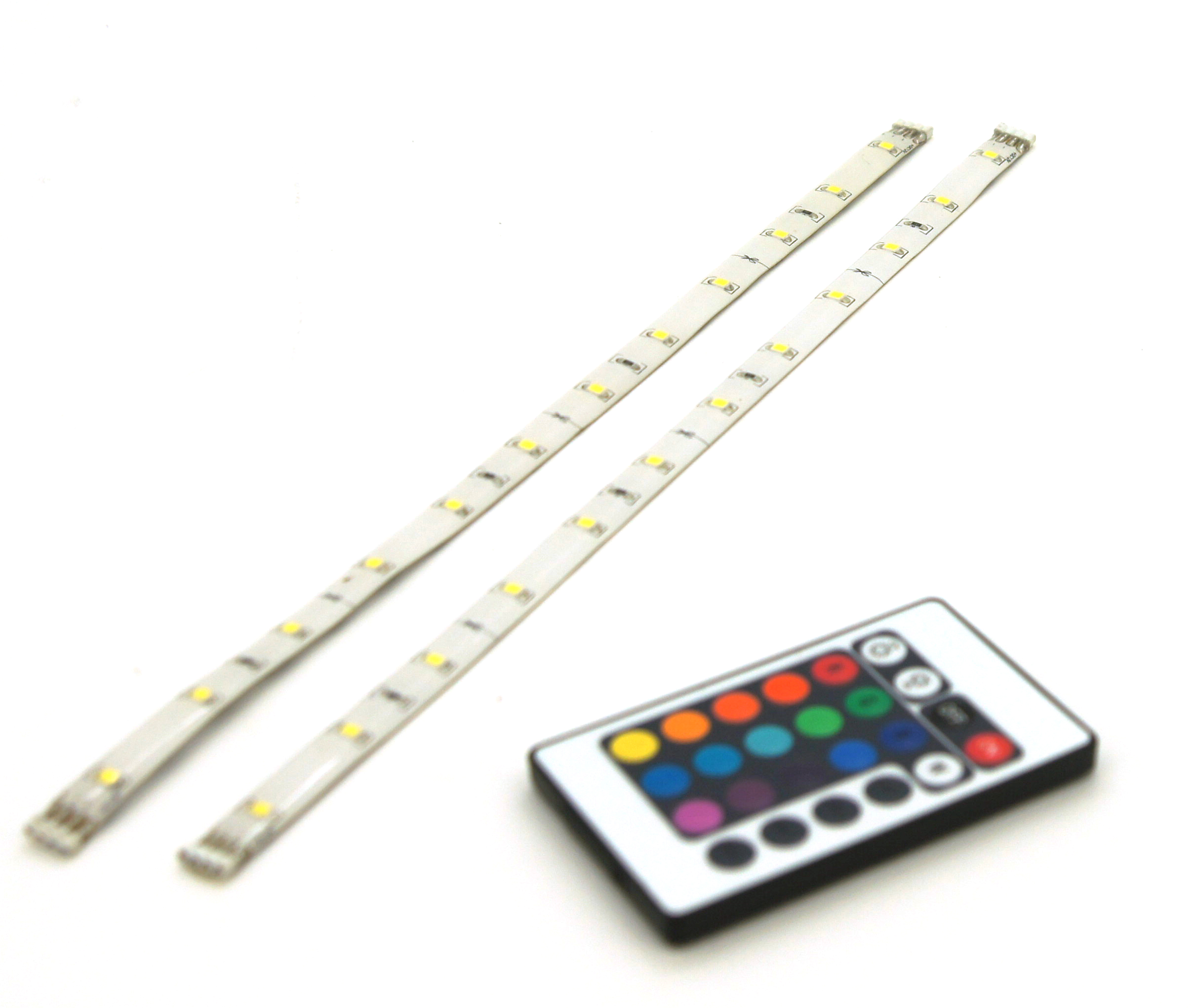 LED strip RGB 2X30cm +afst. bed. IP44