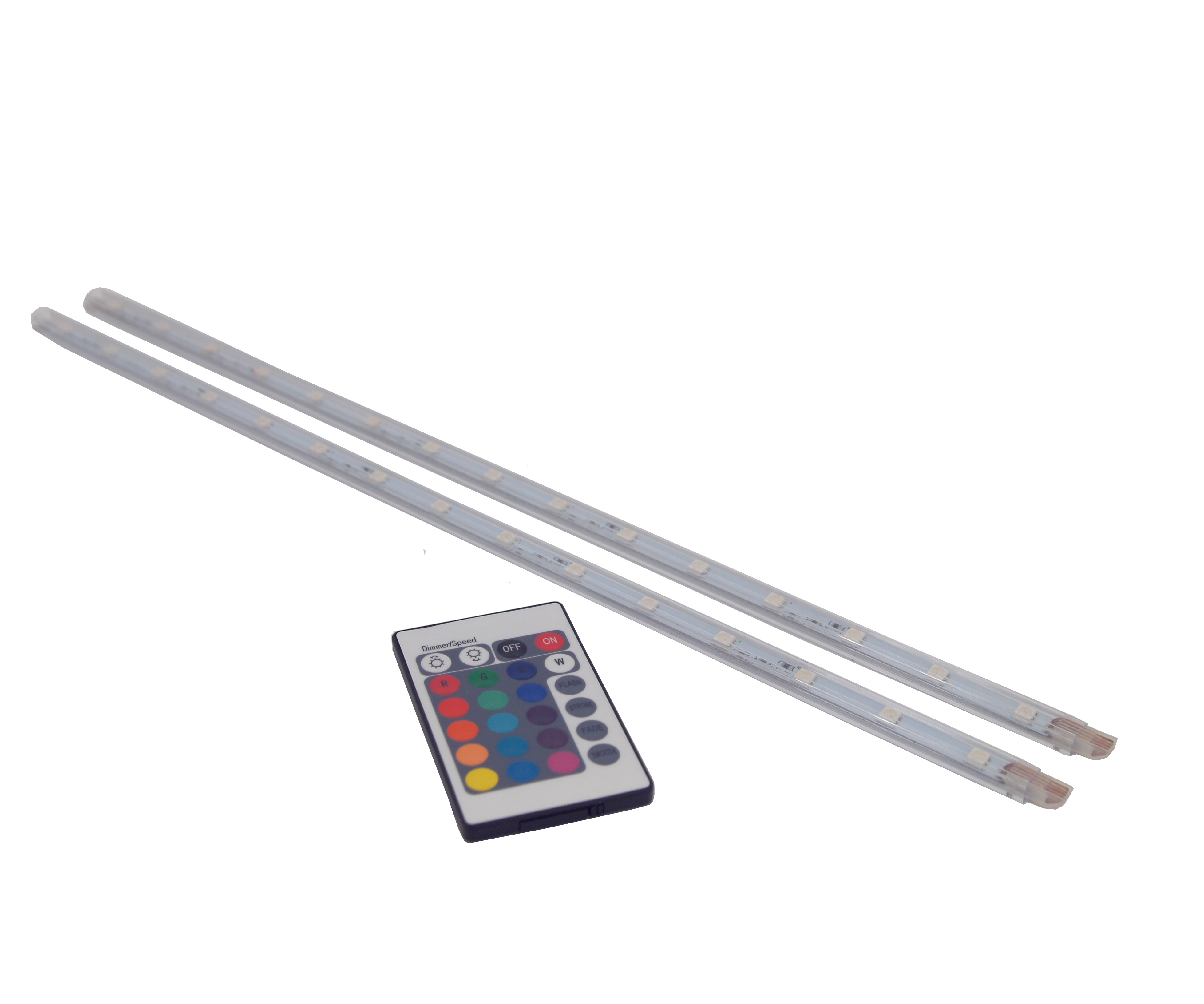 LED strip RGB 2X40cm +afst. bed. IP20