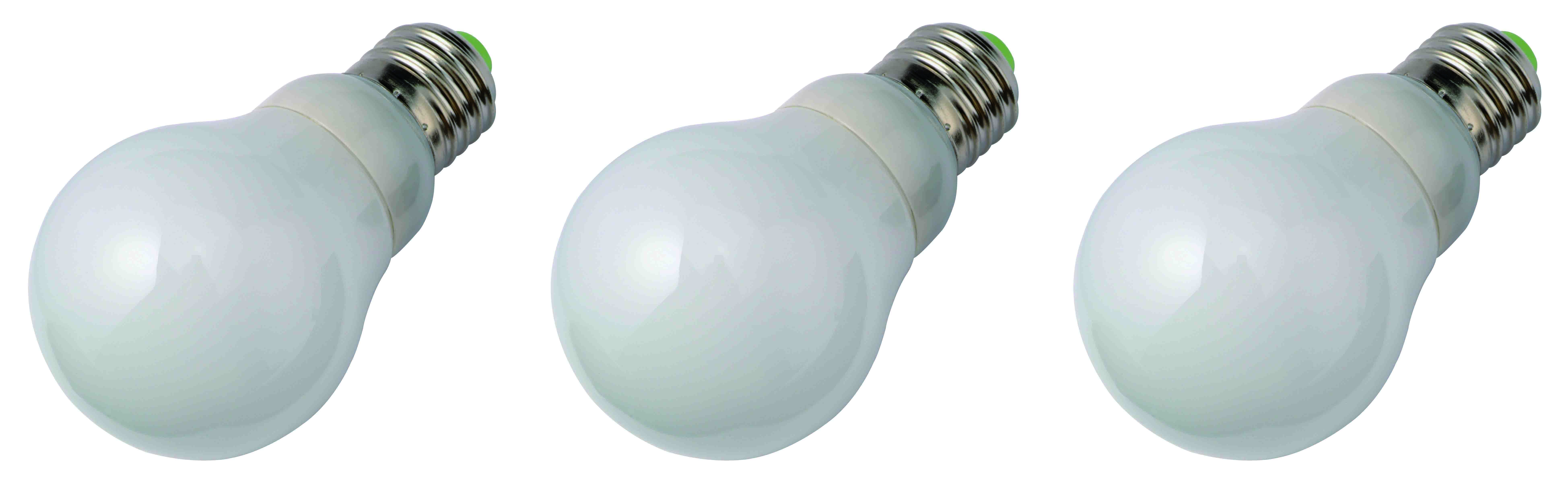 Compact fluorescent kogel E27 7W 3 pieces