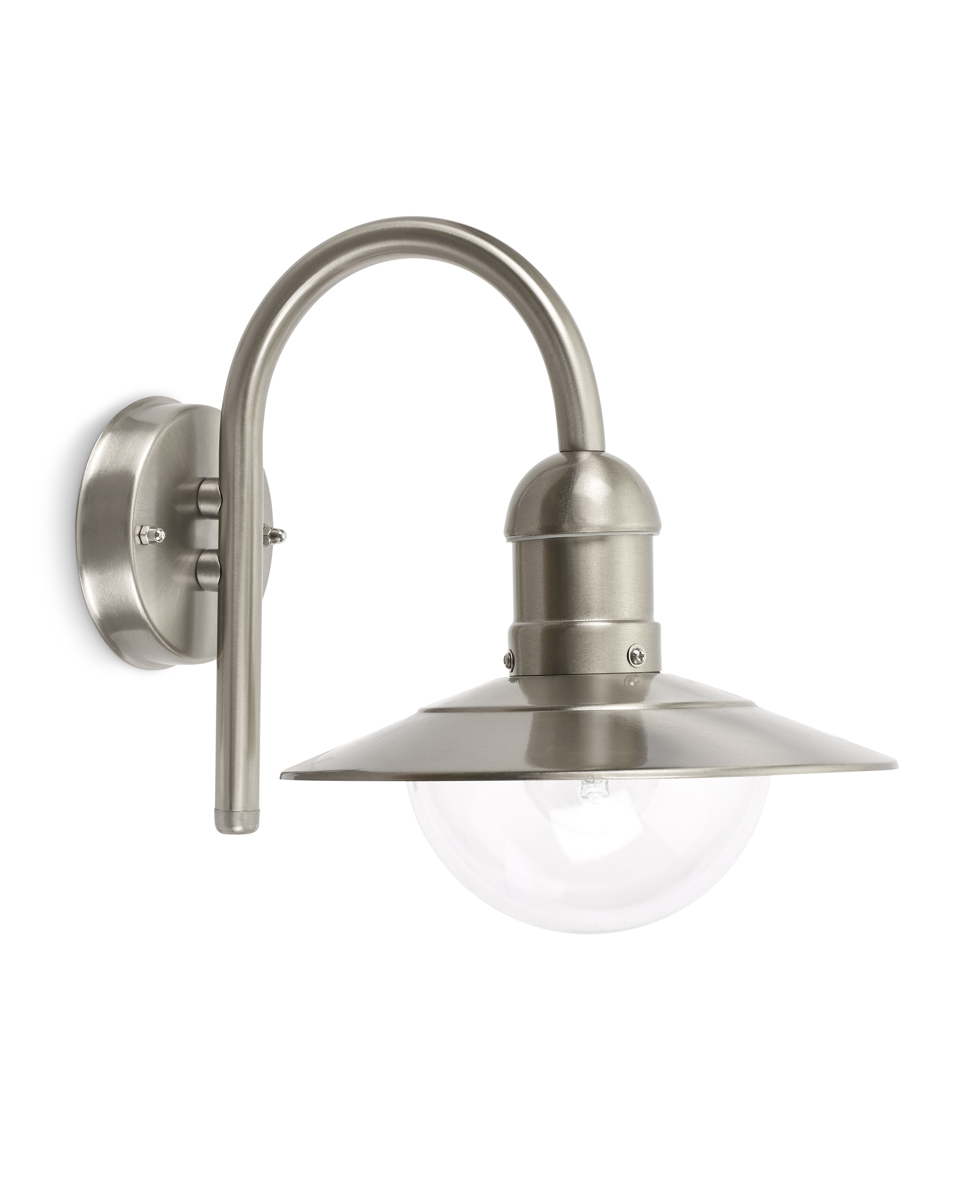 Wall light E27 stainless steel